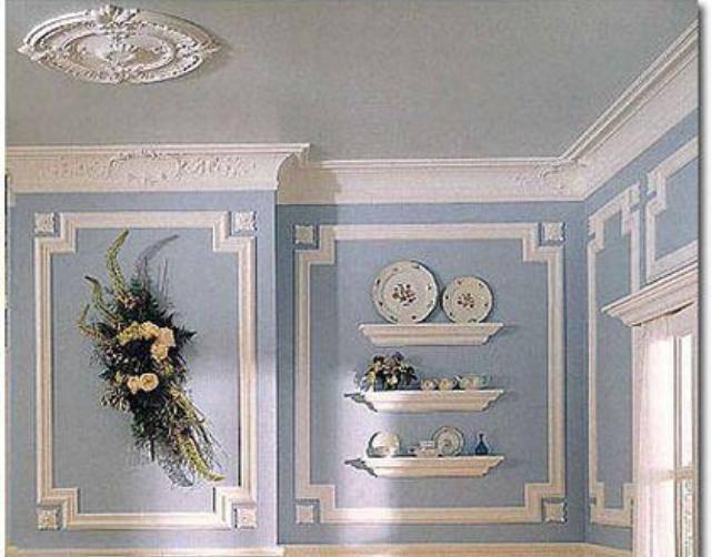 Монтаж гипсовой лепнины на потолок