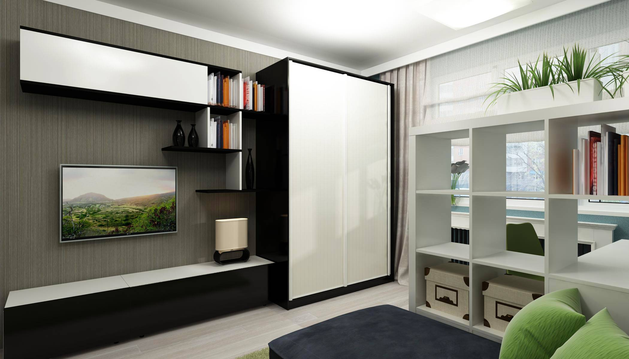 Шкаф в гостиную во всю стену — особенности интерьера и правила выбора