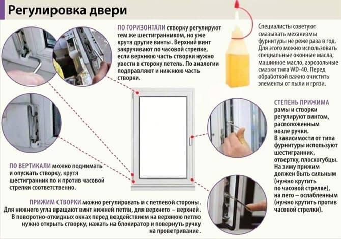 Регулировка пластиковой балконной двери самостоятельно (видео)