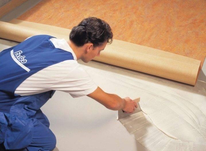 Технология укладки линолеума на бетонный пол