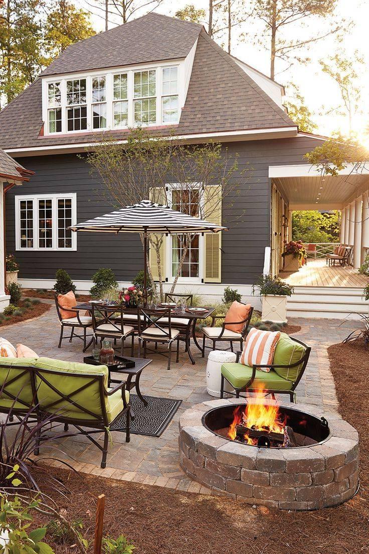 Ландшафтный дизайн двора частного дома своими руками: фото, видео