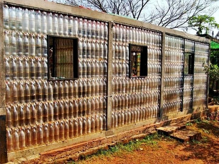 Забор из пластиковых бутылок.    страна мастеров