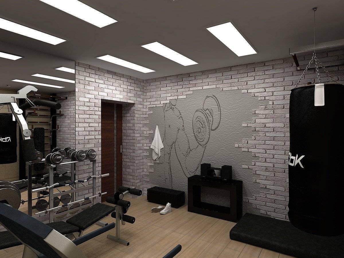 Домашний спортзал: дизайн интерьера, напольное покрытие, идеи обустройства тренажерного зала, фото