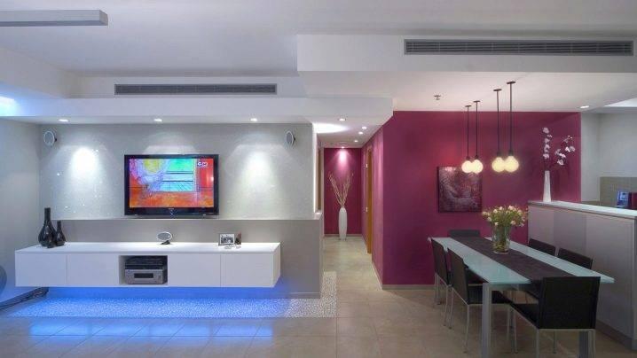 Натяжные потолки с подсветкой по периметру: как сделать светодиодную подсветку изнутри, варианты короба с внутренней подсветкой, ниша для подсветки потолка
