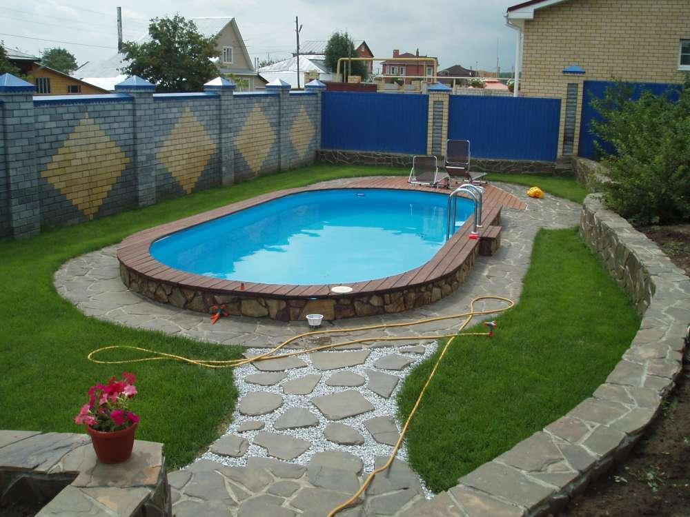 Площадка под каркасный или надувной бассейн на даче своими руками, как выровнять землю