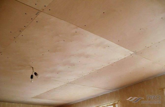 Потолок из осб плит и его отделка