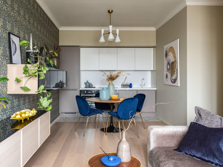 Дизайн кухни-гостиной - 90 фото, интерьер гостиной, совмещенной с кухней