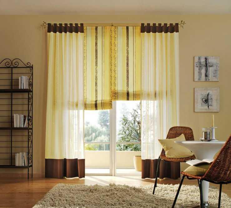Шторы в гостиную в современном стиле — реальные примеры дизайна на фото