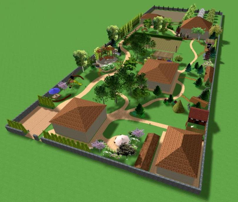 Планировка участка 5 соток: грамотные варианты зонирования территории