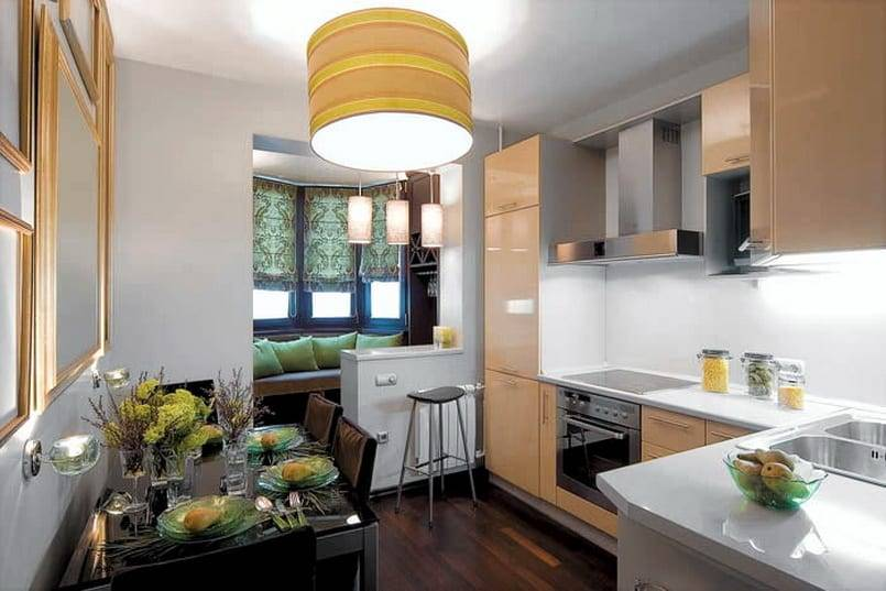 Лоджия, совмещённая с жилыми помещениями: варианты дизайна интерьера гостиной или кухни