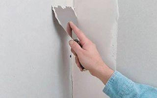 Шпаклевка углов стен