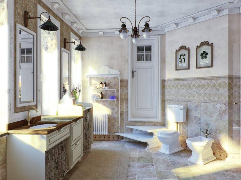 Идеи для дизайна ванной комнаты в стиле прованс