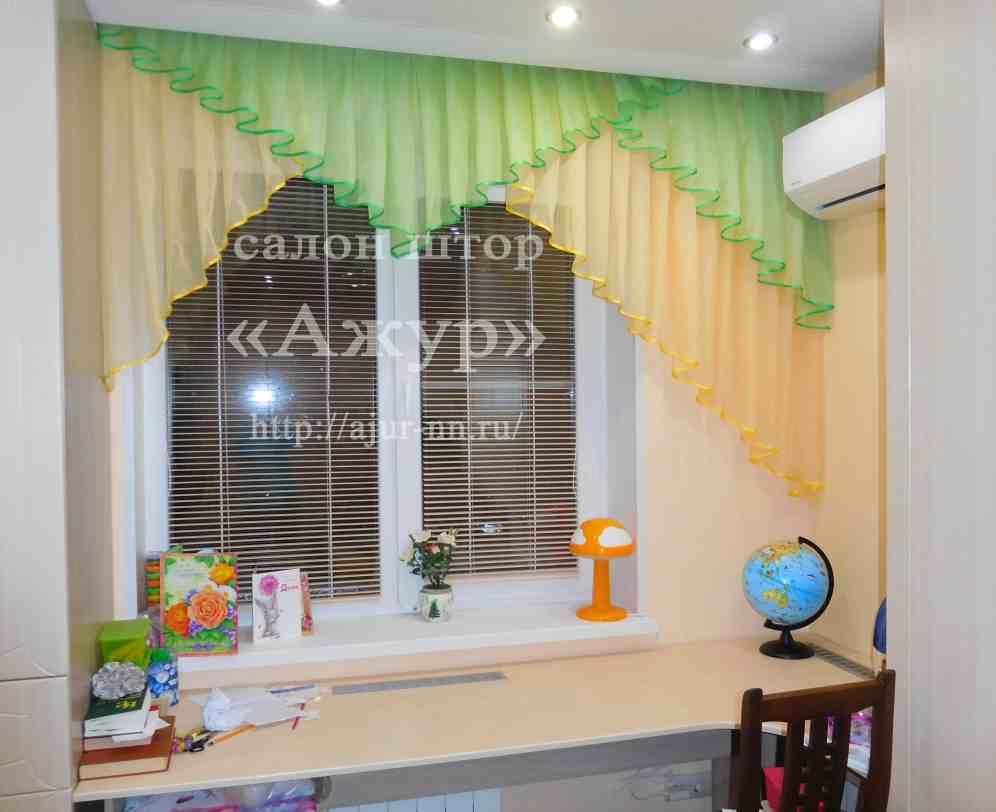 Шторы в детскую комнату – яркие украшения комнаты и эффективная защита от солнца (95 фото-идей)