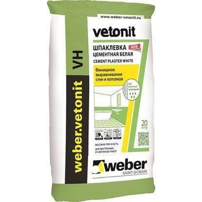 Шпаклевка weber vetonit: что это такое, состав, как разводить смесь, применение