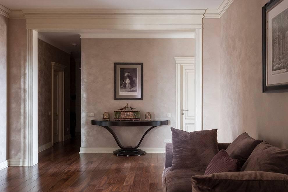 Декоративная штукатурка в прихожей (45 фото): идеи внутренней отделки в интерьере коридора, виды и фактуры, какую лучше выбрать