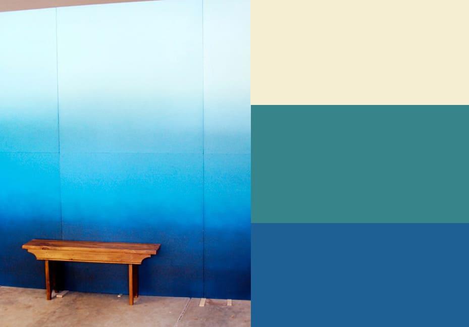Градиентная покраска стен своими руками