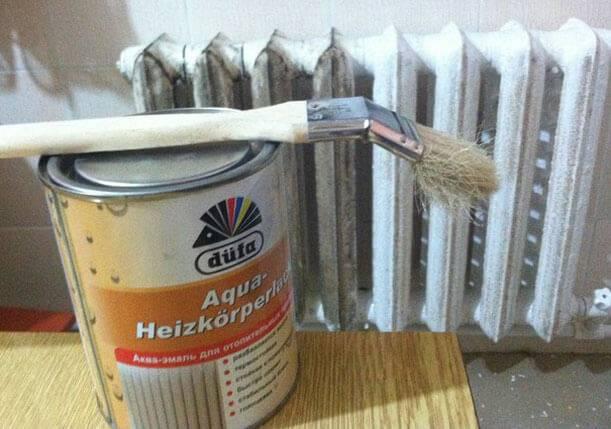 Краска для радиаторов отопления: виды, процесс подготовки и покраски   гид по отоплению