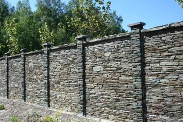 Забор из камня своими руками: фото, видео инструкция забор из камня своими руками: фото, видео инструкция