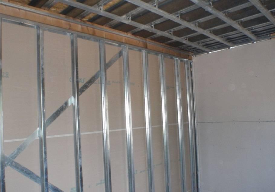Обрешетка под гипсокартон своими руками - крепление профиля к потолку и стенам, особенности монтажа
