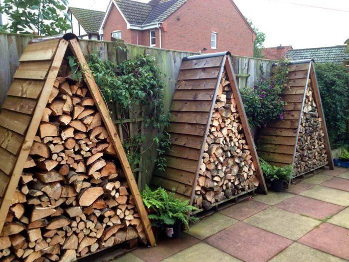 Как и из чего сделать навес для дров возле дома