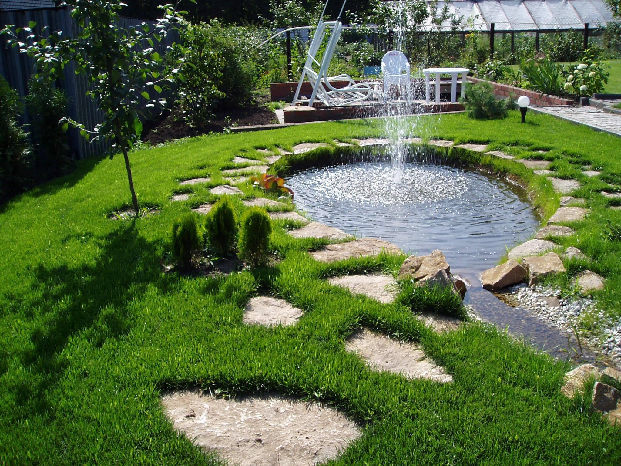 Перед домом. дизайн участка: калитка, газон, цветник, что еще?