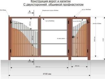 Распашные ворота (83 фото): универсальные автоматические ворота с калиткой,  петли и разные модели из сэндвич-панелей своими руками