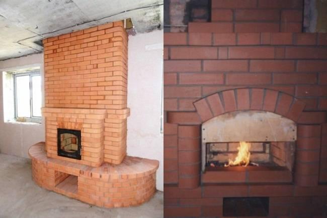Печка-камин (59 фото): керамогранит для облицовки, два в одном, как переделать из старой печки