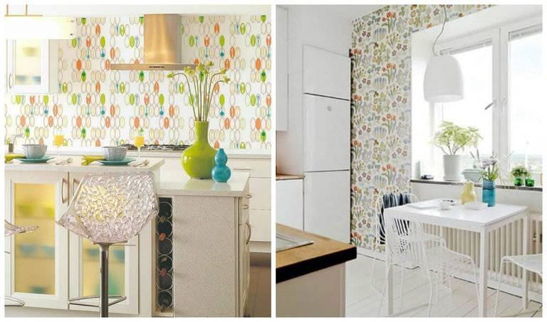 Современные обои для кухни. каталог идей + 240 фото