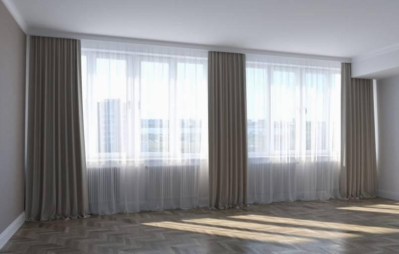 Тюль в зал без штор: фото, новинки 2020, модные тренды