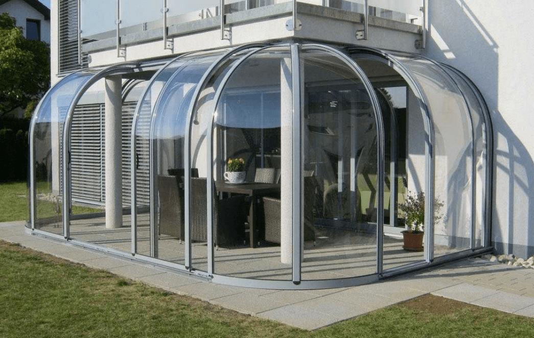 Пристройка веранды, террасы из поликарбоната пристроенная и сделанная своими руками к дому, фото