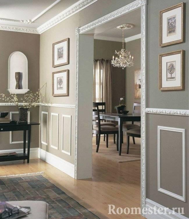 Как сделать в квартире лепнину из цветов на стене своими руками: особенности работ в домашних условиях
