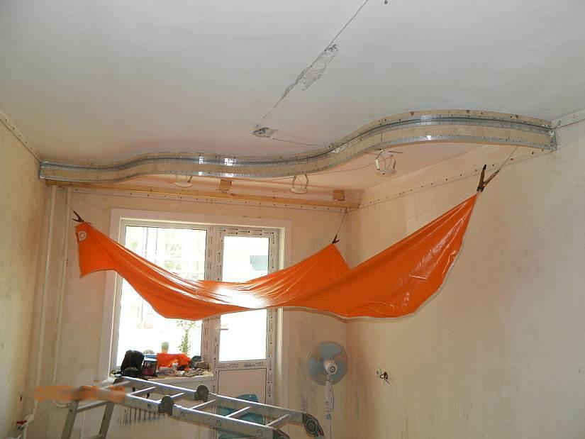 Двухуровневый натяжной потолок своими руками: пошаговая инструкция.