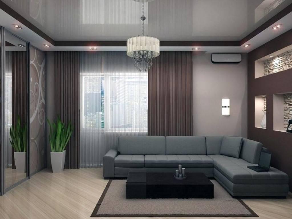 Натяжные потолки в гостиной: виды, дизайн, освещение, 60 фото в интерьере