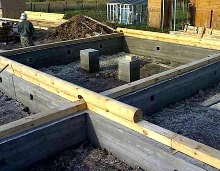 Как поднять дом и залить фундамент: деревянный дом на новый фундамент