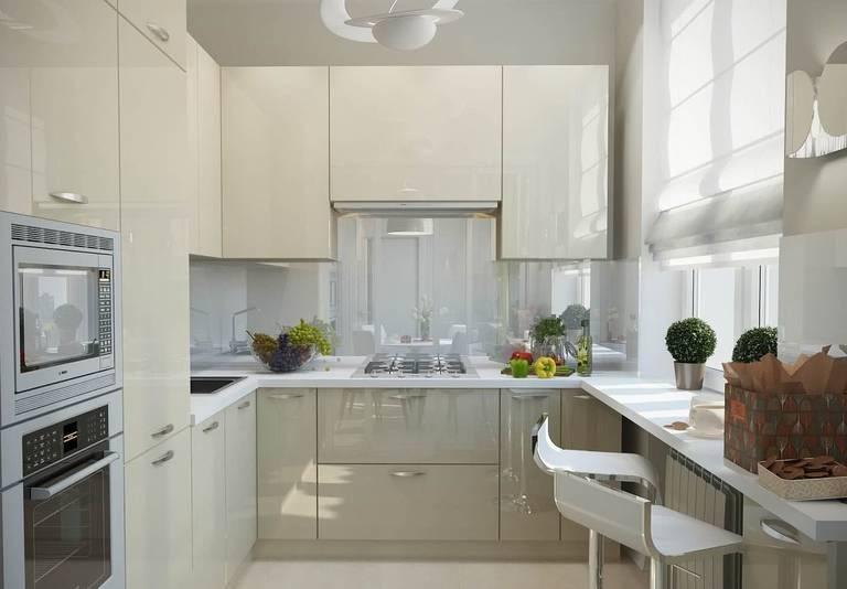 Интерьер маленькой кухни - 70 фото примеров