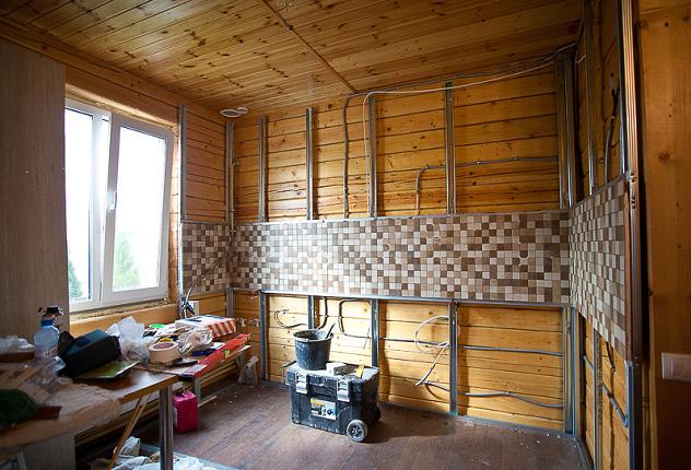 Внутренняя отделка гипсокартоном деревянного дома своими руками