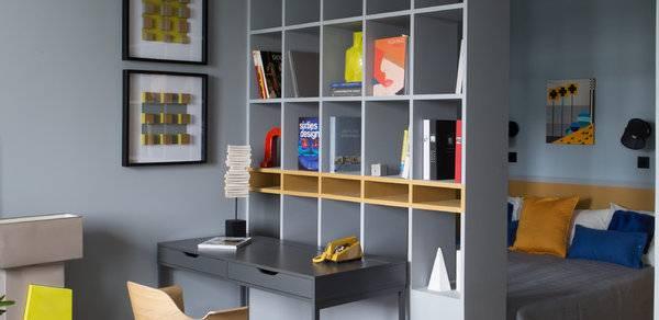 Шкаф-перегородка для зонирования: виды, дизайн, выбор материала, цвета, формы