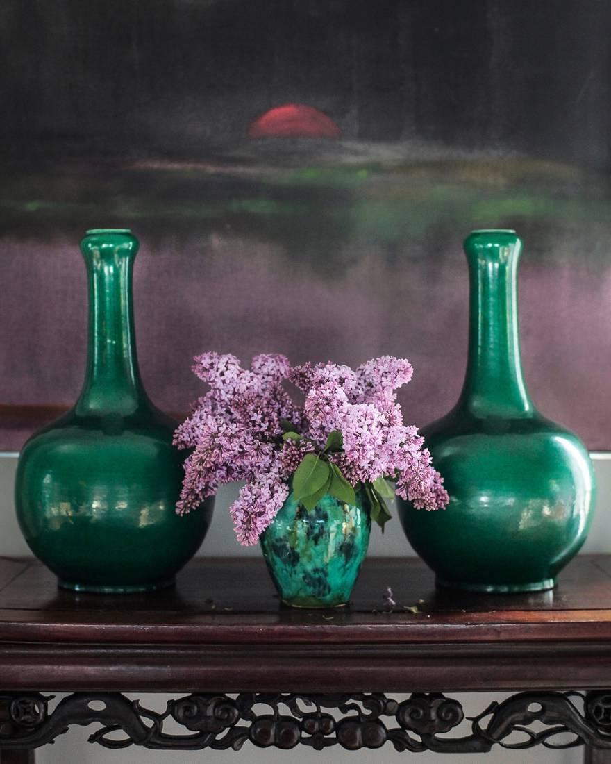 Напольные вазы для интерьера — фото декора