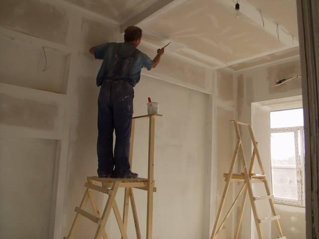 Подготовка потолка под обои своими руками