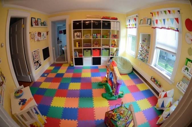 Мягкий пол для детских комнат