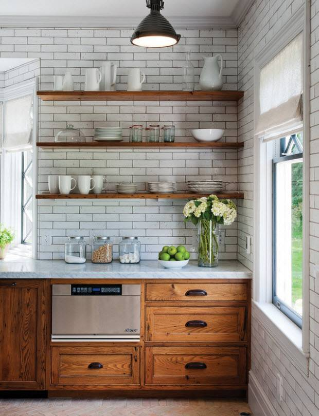 Кухня в деревенском стиле: особенности интерьера, материалы для отделки