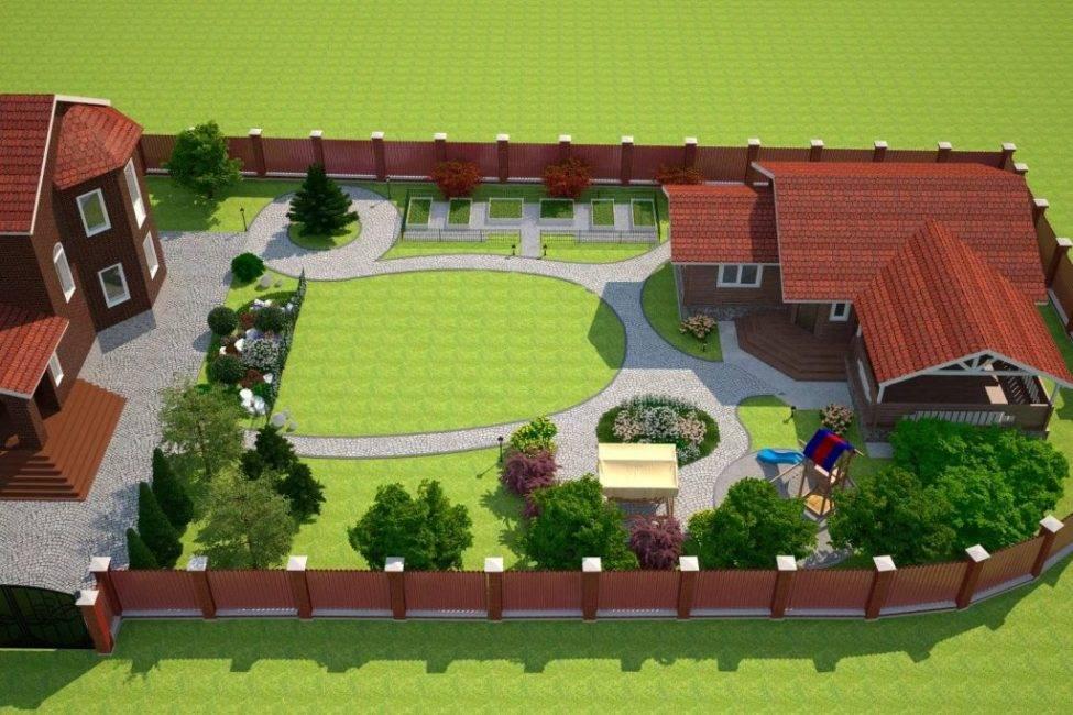 Дизайн сада и огорода на 6 сотках - как правильно оформить участок
