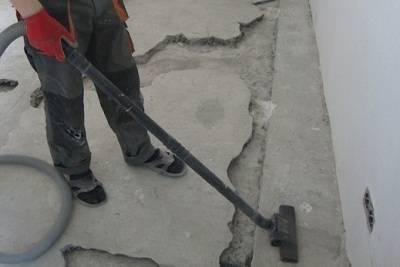 Трещины на наливном полу: что делать?