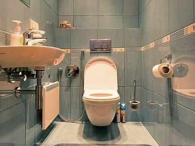 Маленький туалет в стильном решении