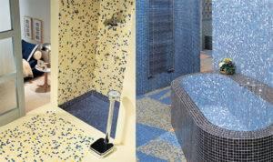 Самоклеящаяся мозаика (36 фото): отделочная «самоклейка» для стен ванной и туалета, зеркальная плитка для кухни и гостиной, варианты под камень