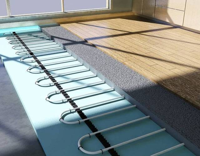Как залить теплый водяной пол своими руками - пошаговая инструкция с фото