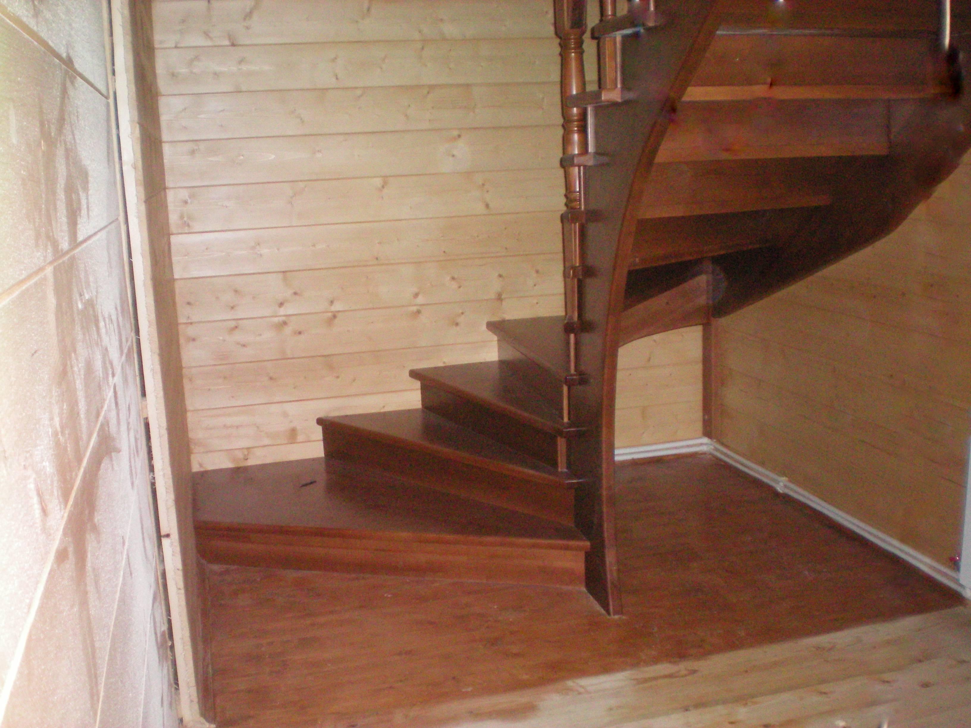 Расчет п образной лестницы с поворотом на 180 градусов