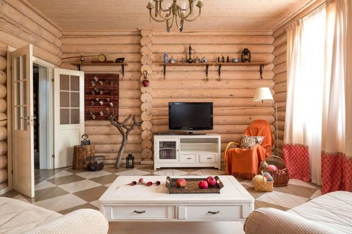Интерьер деревянного дома – 30 красивых и стильных фото