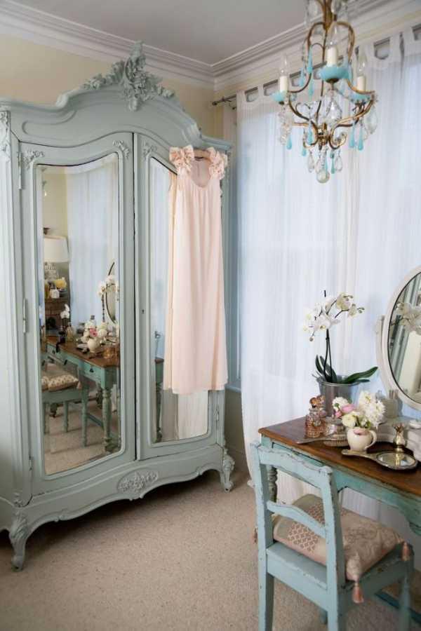 Спальня в стиле шебби шик: дизайн интерьера (в тч в крохотной комнате) + фото