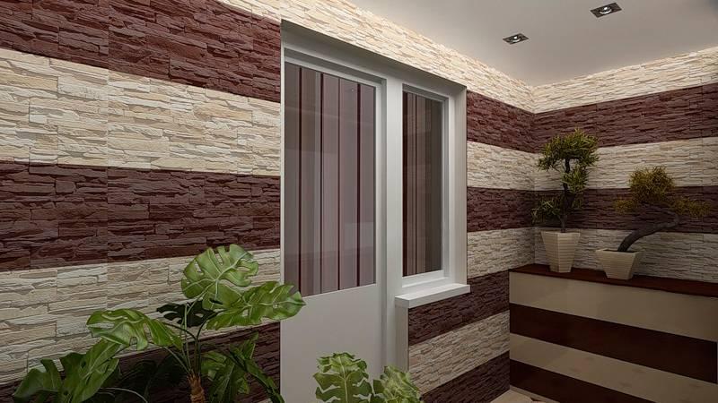 Декоративный камень на балконе: дизайн внутренней отделки и фото, преимущества и недостатки обшивки и можно ли совместить с обоями, штукатуркой, как выложить?